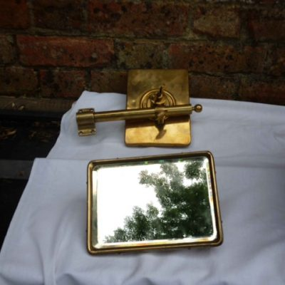 Brass Edwardian Windscreen Rear Mirrors - Original