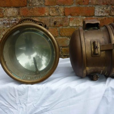 Very Large Ducellier Edwardian Acetylene Headlamps - Original