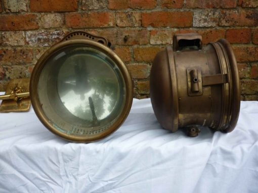 Very Large Ducellier Edwardian Acetylene Headlamps - Original