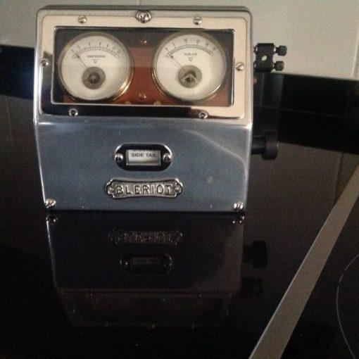 Bleriot Lighting Switch Box & Amp/Volt Metre - Original