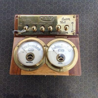 C.A.V. Lighting Switch Box - Original Restored
